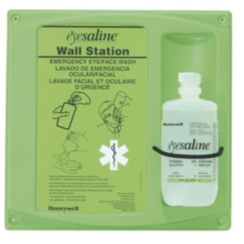 Eyesaline Eyewash Wall Station, 16 oz Bottle