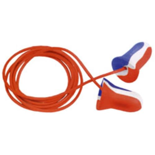 Howard Leight Max Single-Use Ear Plug, Regular, 33 dB, Bell, Corded, Polyurethane Foam