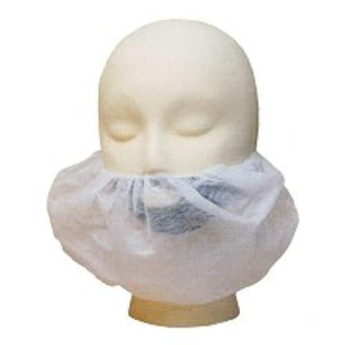 White Polypropylene Beard Cover, 18""