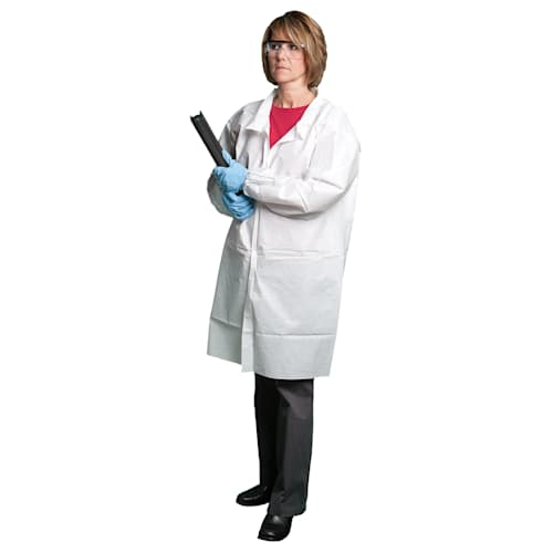 LABCOAT,POLYPRO RED