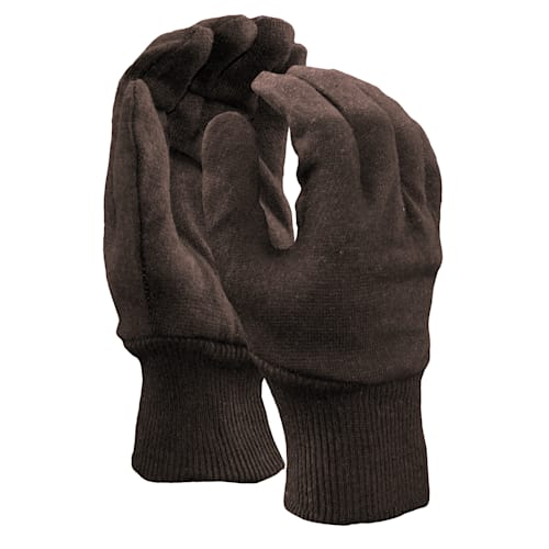 Brown Jersey Reversible Gloves
