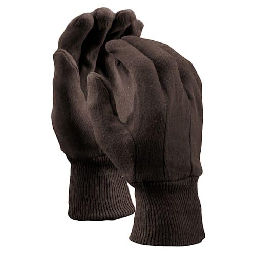 Brown Jersey Gloves, Clute Cut,  Women's