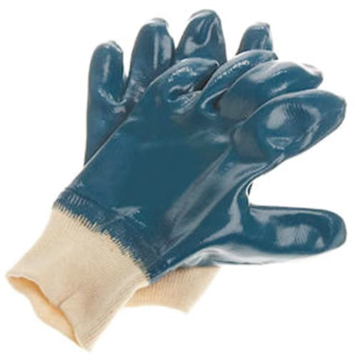 Fully Coated Nitrile Glove with Jersey Liner, Knit Wrist