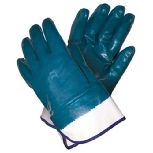 Fully Coated Nitrile Glove with Jersey Liner, Safety Cuff