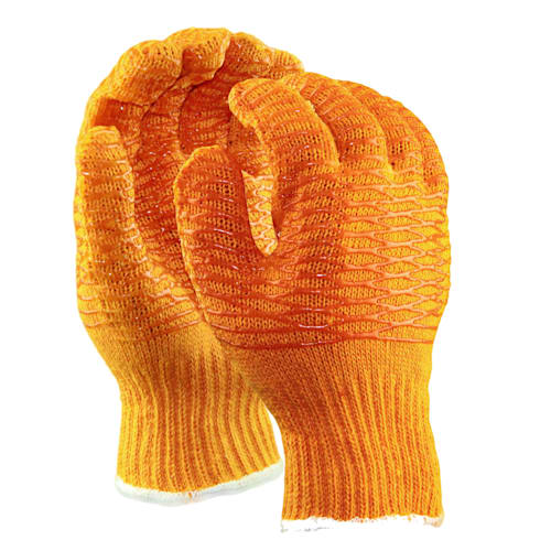 Standard Weight String Knit Gloves with PVC Honeycomb Coating