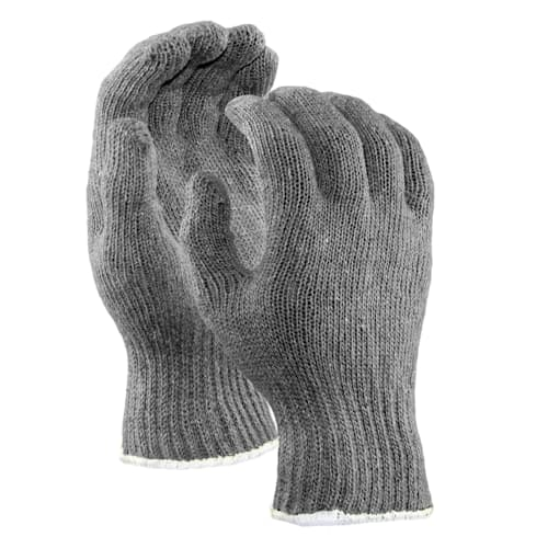 String Knit Gloves, Standard Weight, Gray