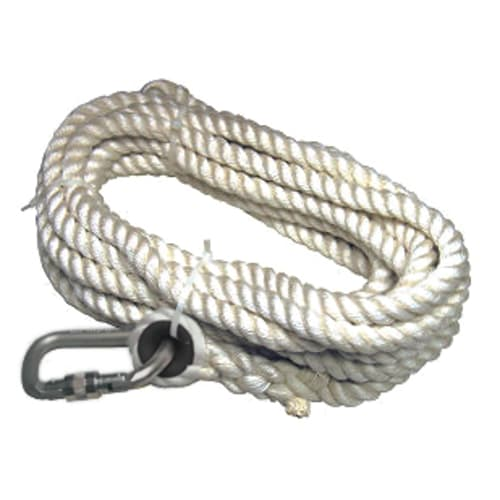 Vertical Lifeline Rope, 100 ft, Nylon