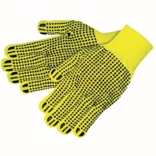 Hi-Viz PVC-Coated String Gloves