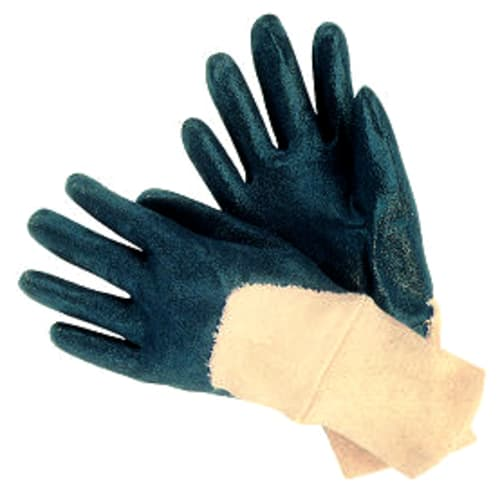 3/4 Coated Nitrile Glove with Interlock Liner, Knit Wrist