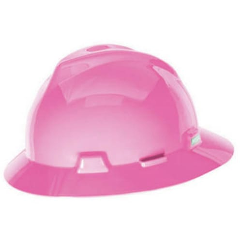 Hot Pink V-Gard Full Brim Hat with Fas-Trac III Suspension