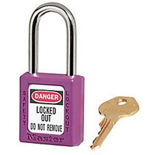 Purple Safety Padlock