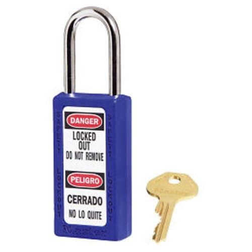Blue Safety Padlock