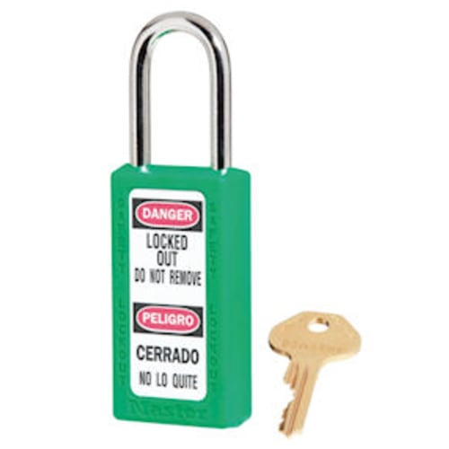 Green Safety Padlock