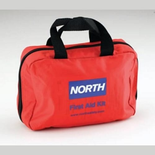 Redi-Care First Aid Kit, 6 in W X 8-3/4 in L, Nylon Case, Red