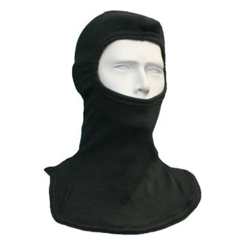 Double Layer Carbon OPF Blend Balaclava, Black