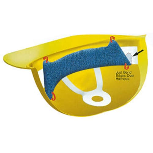 Terry Topper Clip On Hard Hat Sweatband