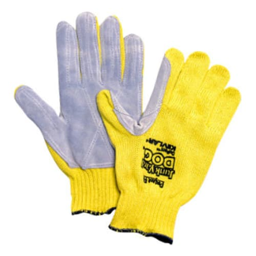 Junk Yard Dog Standard Weight Cut Resistant Gloves, Mens, Kevlar/Leather