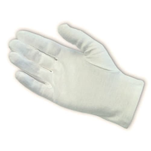 Cabaret White Cotton Dress Gloves, Open Cuff, No Raised Stitching
