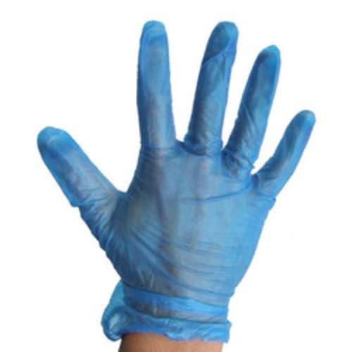 Blue Powder-Free Disposable Vinyl Gloves