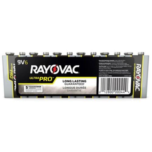 Rayovac UltraPro Alkaline Shrink-Wrapped 9V 6-Pack