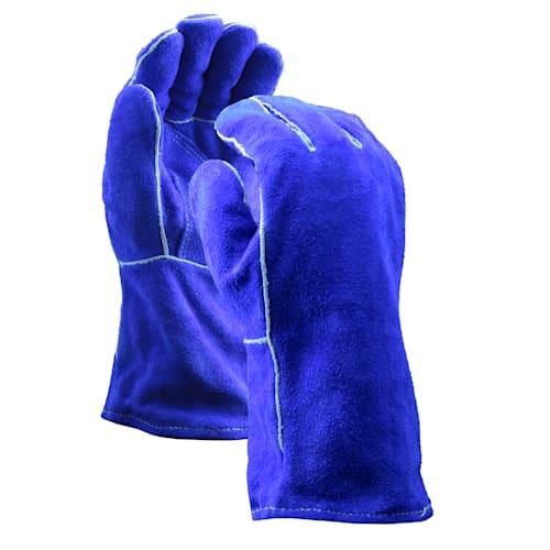 Blue Premium Leather Welders Gloves