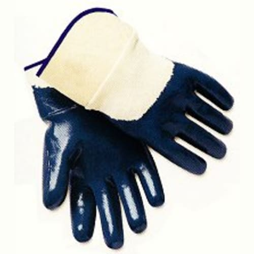 3/4 Coated Nitrile Glove with Jersey Liner, Safety Cuff