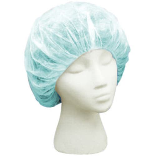 Green Polypropylene Bouffant Cap
