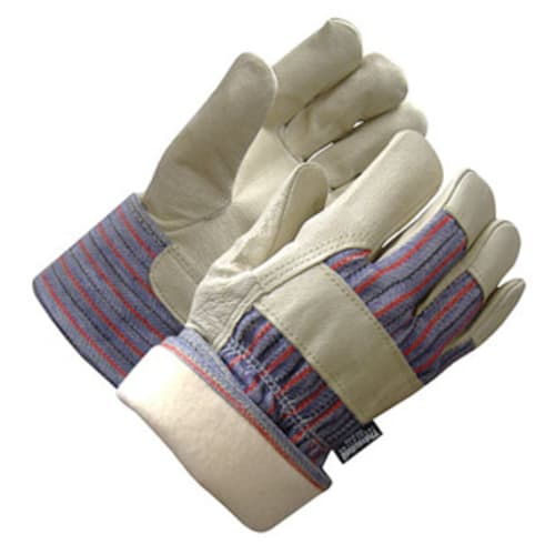 Grain Pigskin Leather Palm Gloves with Safety Cuff, Thinsulate Liner