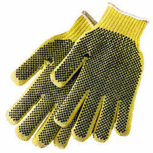 Tuff-Knit KV Extra Reversible Cut Resistant Gloves, Mens, Kevlar, Yellow