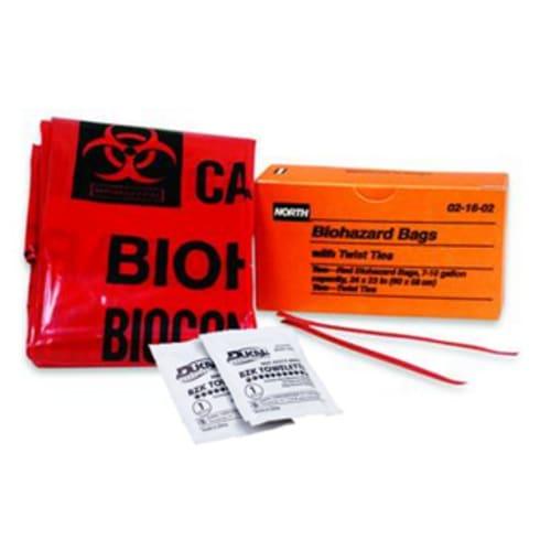 Bio-Hazard Bag Includes Hand Wipes And Towel