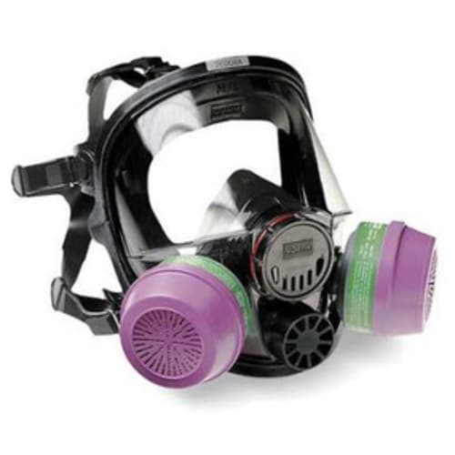 North 7600 Reusable Full Face Respirator, Medium/Large, 5 Point Suspension, Silicone