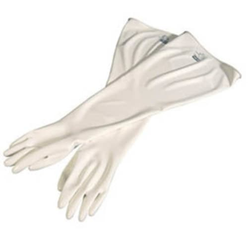 Hand Specific Drybox Gloves, Size 10.5, Hypalon, White