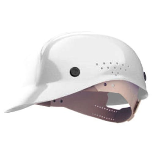 North BC86 Vented Bump Cap, 6-1/2 - 8 in, Front Brim Style, 4 Point Pinlock Suspension, HDPE