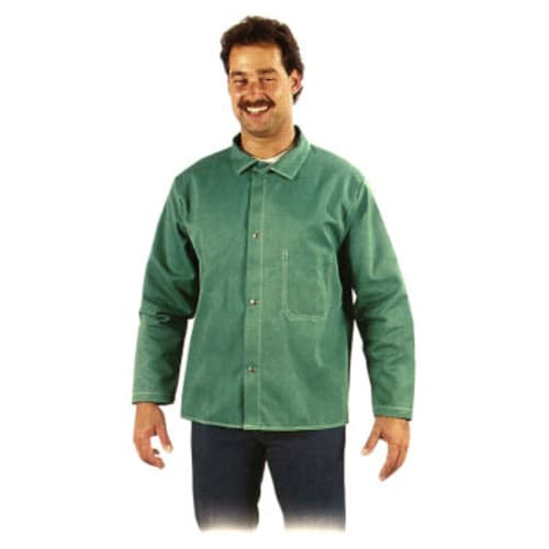Flame-Resistant Green Whipcord Jackets