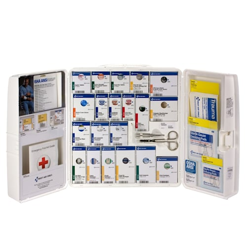 Cabinet,First Aid ANSI A+ with meds