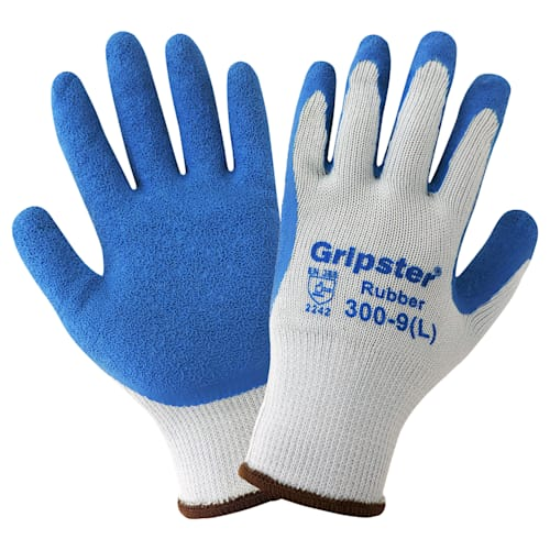 Etched-Finish Rubber Palm Gloves
