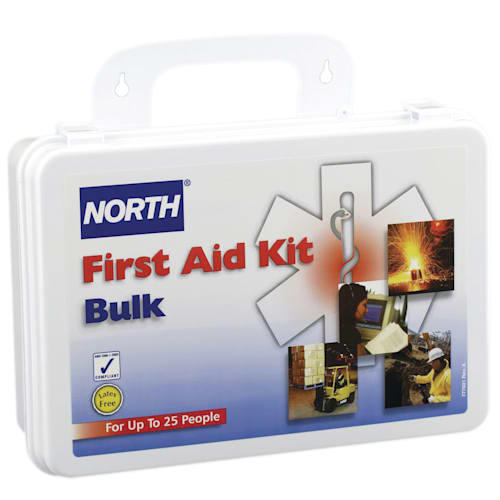 Plastic Bulk First Aid Kit, 25 Person 7x10-1/4x2in White