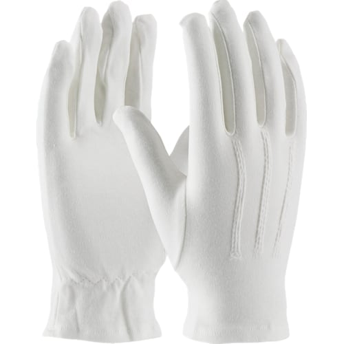 Cabaret White Cotton Dress Gloves, Open Cuff