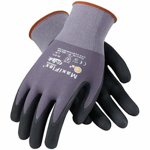 MaxiFlex Micro-Foam Nitrile-Coated Nylon Gloves