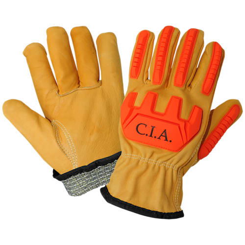 CIA, Premium Leather Cut, Impact, Abrasion Resistant Gloves