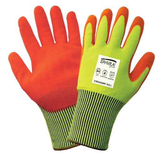 Samurai Hi Vis Cut and Puncture Resistant Gloves