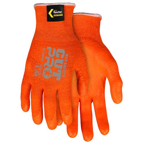 Memphis Orange Kevlar Gloves With Nitrile Foam Coating