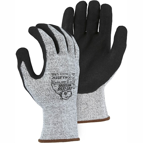 Cut-Less Watchdog Seamless Knit Glove with Sandy Nitrile Palm Coating