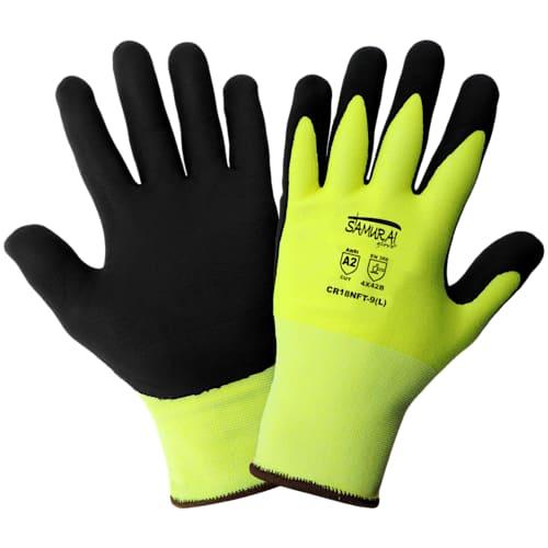 Samurai Gloves, Hi-Vis Cut Resistant, A2