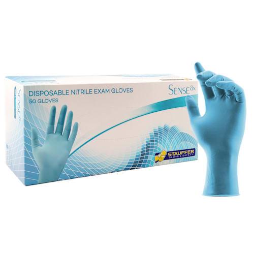 "Sense8x™ Blue Disposable Nitrile Gloves, 8 mil, 12"" Length"