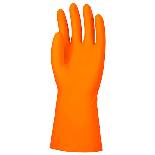 "Unlined Orange Nitrile 13"" Gloves, 11 mil, Diamond Grip"