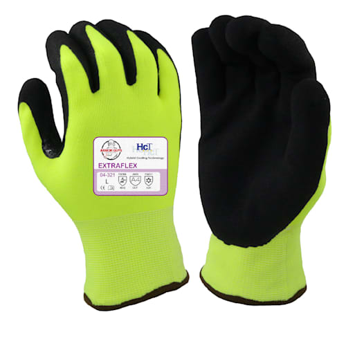 Hi-Vis Extraflex Winter Gloves, Cut Resistant