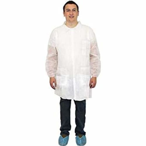 Breathable Barrier White Lab Coat