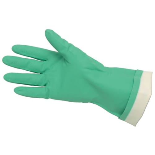 Economy Flock Lined Nitrile Gloves