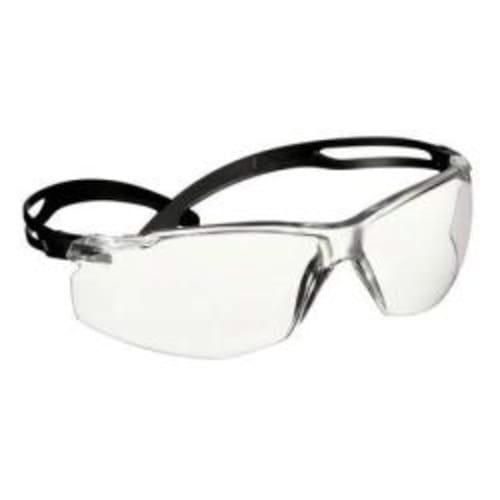 3M SecureFit 500 Series, Black, Clear Anti-Fog Lens